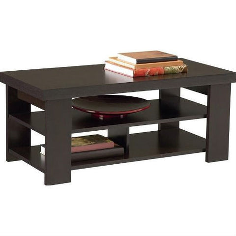 Modern Coffee Table in Dark Brown Black Forest Finish-Living Room > Coffee Tables-Loluxe