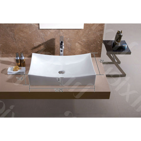 Modern European Style Oversized Porcelain Ceramic Vessel Bathroom Vanity Sink