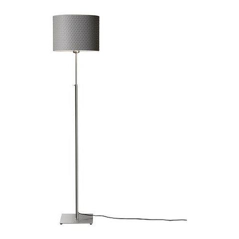Modern Floor Light with Round Grey Lamp Shade-Lighting > Floor Lamps-Loluxe