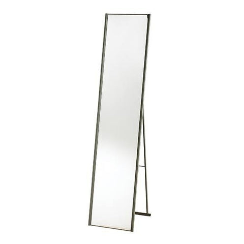 Modern Free-Standing Floor Mirror in Champagne Steel Finish-Accents > Mirrors-Loluxe