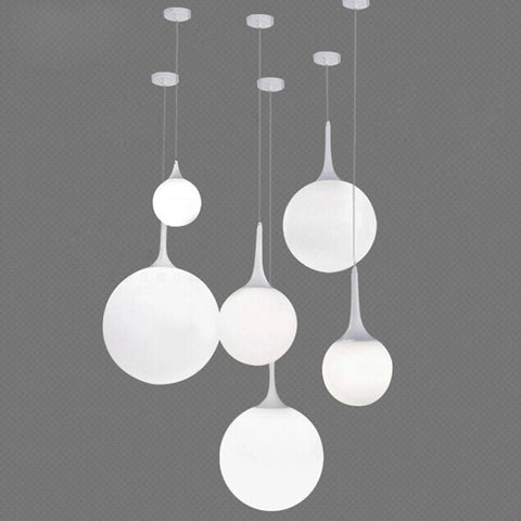 Modern Italy Designer Bedroom Pendant Lights Beaver White Glass Lampshade,-Loluxe