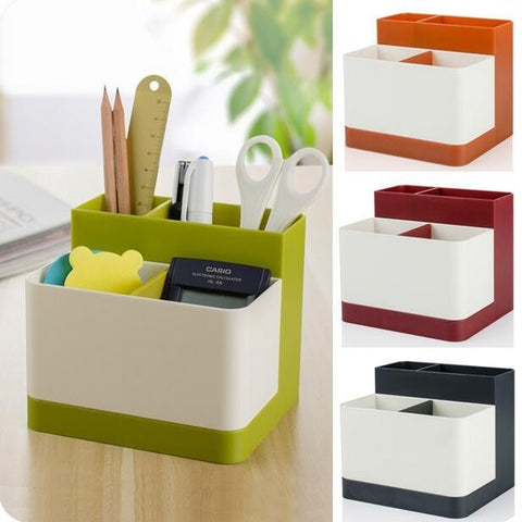 Modern-Style Color-Block Desk/Vanity Organizer 4 Colors-Loluxe