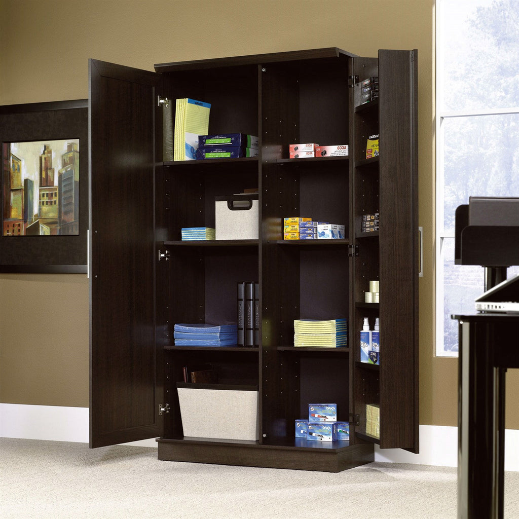 Multi Purpose Living Room Kitchen Cupboard Storage Cabinet Armoire In Mocha Brown Bedroom