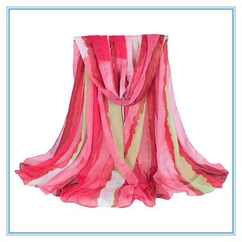 Multi-Stripe Long Ladies Fashion Scarf 8 Colors-Loluxe