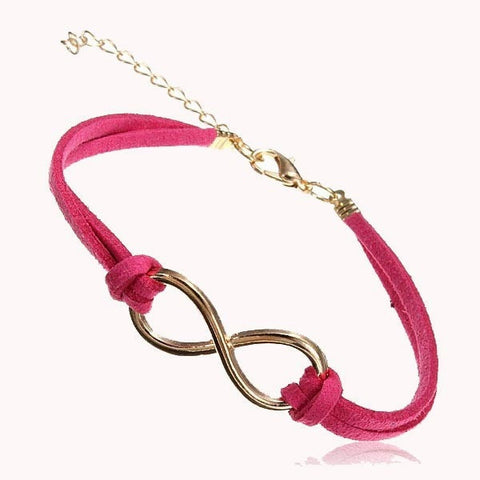Multicolor Infinity Love Metal Leather Bracelet 8 Symbol-Loluxe