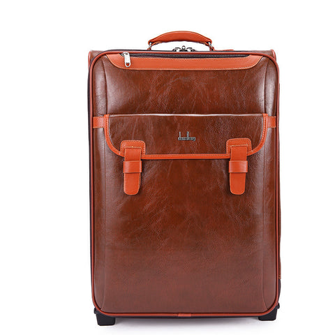 NEW 2016 High-Quality PU Leather Business-Style Classic Trolley Luggage 3 Sizes-Loluxe