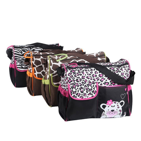NEW Animal Designer Print Waterproof Multifunctional Fashion Diaper Bag 4 Designs-Loluxe