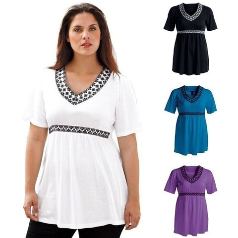 NEW ARRIVAL! Women's Kimino-Style Comfortable Empire-Waist Chiffon Top M-5XL 4 Colors-Loluxe