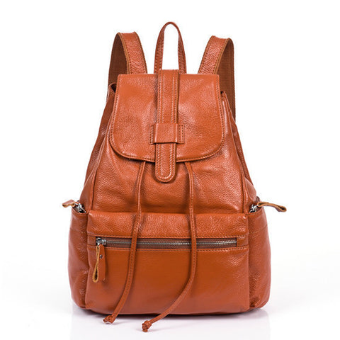NEW Brand Fashion Design Genuine Leather Quality Backpack 2 Colors-Loluxe