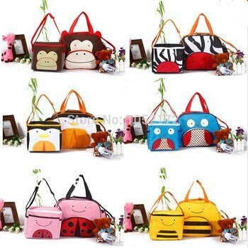 New Cute Cartoon Large Capacity Multifunction Animal Diaper Bags 6 Designs-Loluxe
