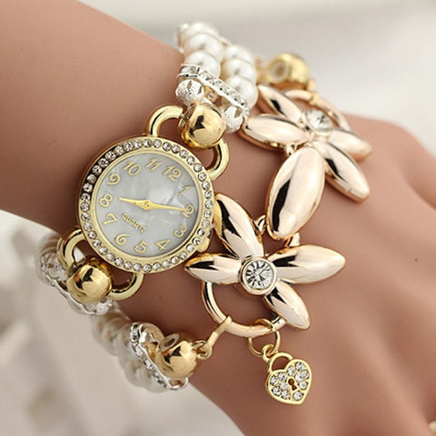 New Fashion Luxury Pearl Bracelet Quartz Watches-Loluxe