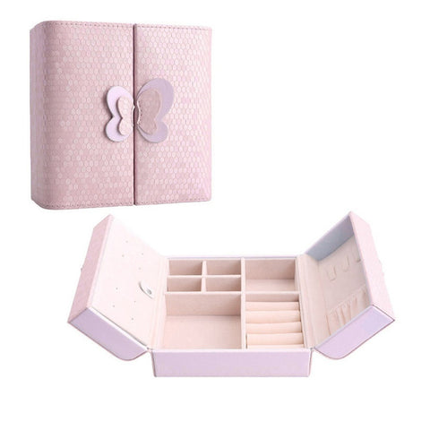 New Graceful Elegant Style Bowknot PU Leather Storage Jewelry Case Box Organizer 3 Colors-Loluxe