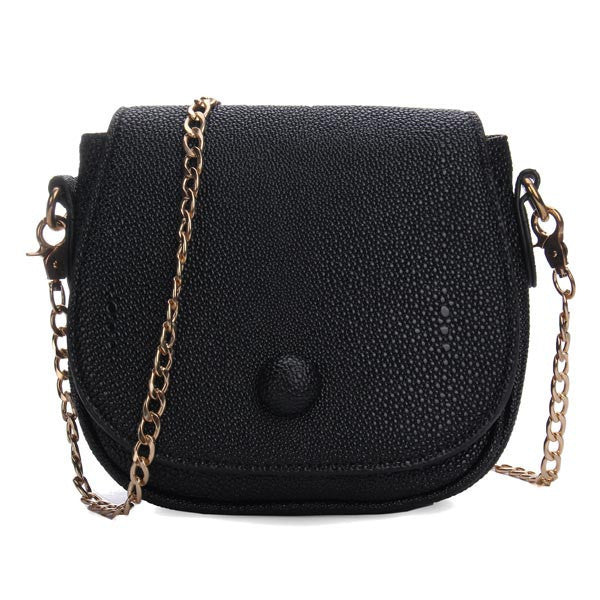 New Korean Fashion Women Bag Pu Leather Chain Cross Body Bag-Handbags-Loluxe