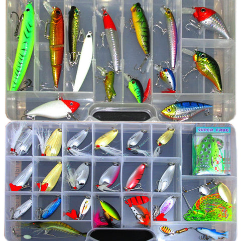 New Lure Kit Fishing Lures Minnow Soft Bait Artificial Freshwater Saltwater Lure-Loluxe