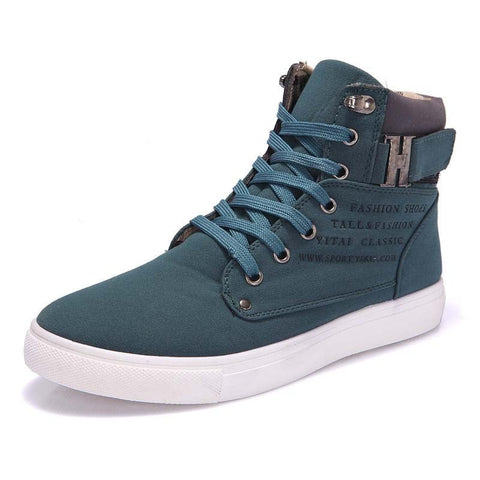 NEW Men's Casual Comfortable Fashion High-Top Leather Ankle Boots 4 Colors-Loluxe