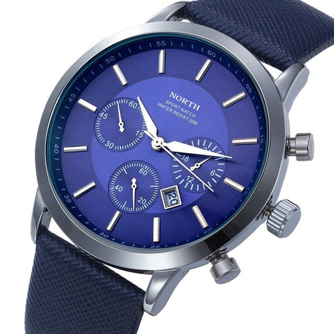 New Men's Fashion Quartz Dress Wrist Watches Leather Strap-Loluxe