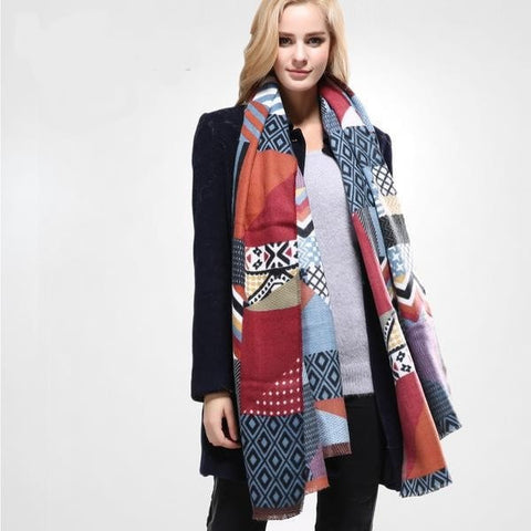 NEW Multicolored Fashion Luxury Winter Long Soft Cotton Scarf-Loluxe