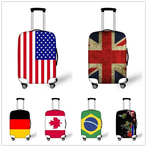 "NEW TREND! Trolley Suitcase Waterproof Protective Covers for 18-30"" American Flag + 6 Other Styles-Loluxe"