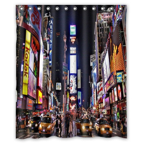 "New York City Waterproof Fabric 60 x 72"" Shower Curtain 19 Designs-Loluxe"