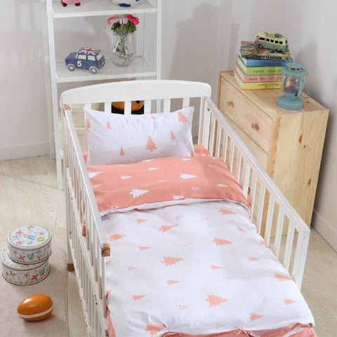 Nice Quality Sweet 3-PC Cotton Baby Nursery Bed Set 6 Colors Good Price!-Loluxe