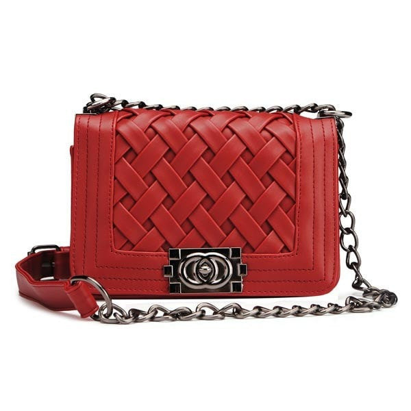 Nice Top Quality Women's Knitted Plaid Design Shoulder Bag/Clutch-coin purse wallet clutch-Loluxe