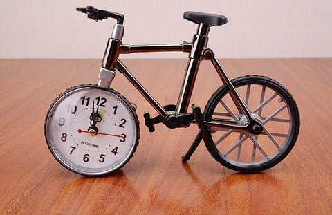 Novelty Vintage-Style Bicycle Table-Top Alarm Clock-Loluxe