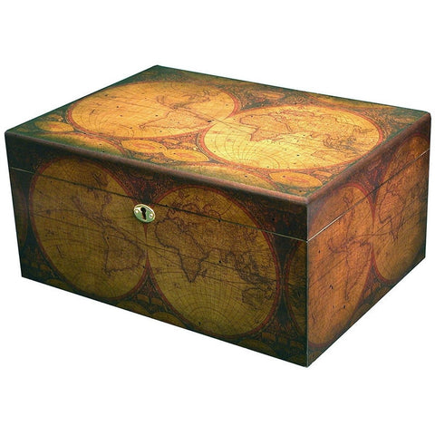 Old World Quality Desktop Humidor - Holds up to 100 Cigars-Accents-Loluxe