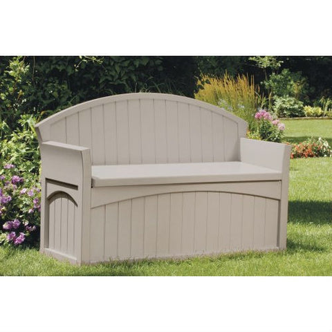 Outdoor Patio Garden Bench with 50-Gallon Storage Space Under Seat-Outdoor > Outdoor Furniture > Garden Benches-Loluxe