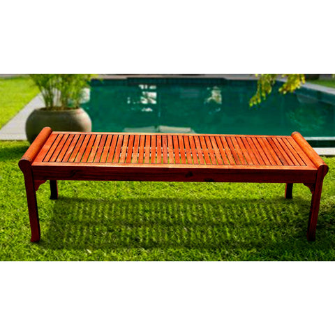 Outdoor Patio Garden Picnic Bench Made From Eucalyptus Wood