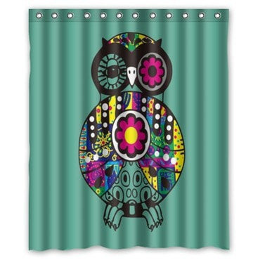 "Popular Colorful Cartoon Owl 60x72"" Waterproof Fabric Shower Curtain 23 Designs-Loluxe"