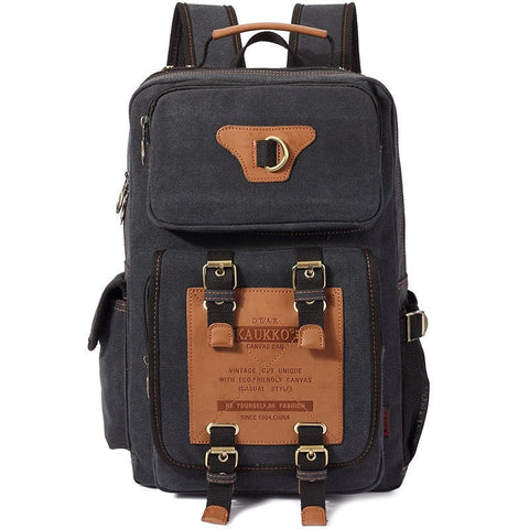 Premium-Quality Men's Multifunctional Durable Waterproof Canvas Backpack 5 Colors-Loluxe