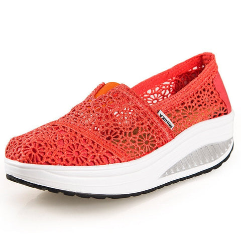 Pretty Elegant Breathable Lace Fashion Fitness Sneakers 9 Colors-Loluxe