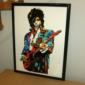 Prince, The Revolution, Purple Rain, Guitar, Rock Guitarist -TOP Abstract oil painting-100% handpainted 36 inch-Loluxe
