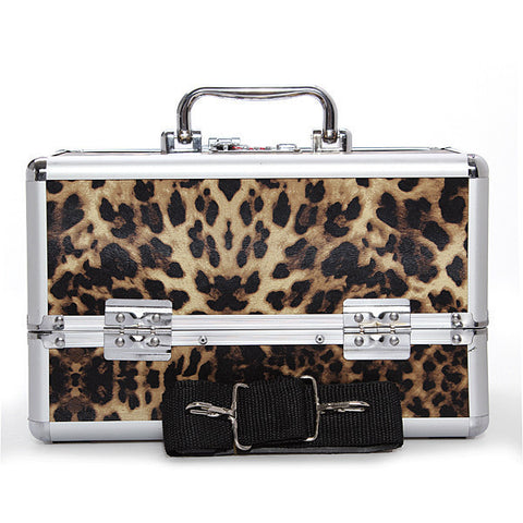Pro Aluminum Lockable Makeup Train Case Box/Travel Cosmetic Container-Loluxe