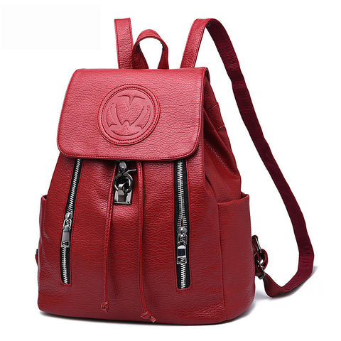 Luxury Designer PU Leather Ladies Fashion Backpack 7 Colors