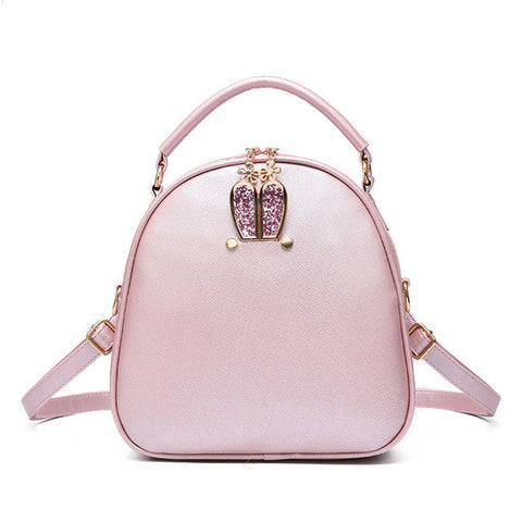 Fashion Solid-Colored Ladies Backpack 3 Colors