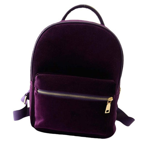 Fashion Velvet Spacious Vintage-Style Backpack 4 Colors