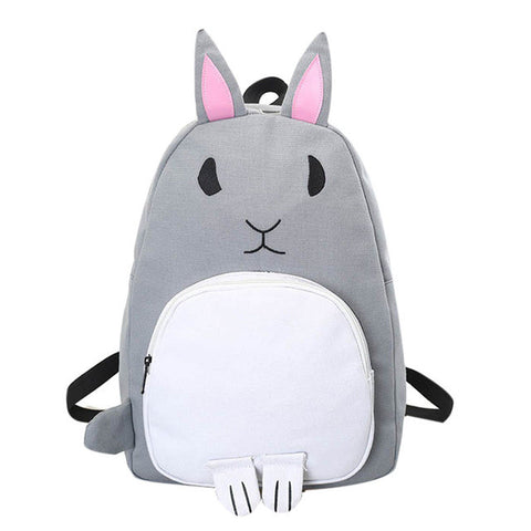 Modern Minimalist Canvas Rabbit Backpack 3 Colors