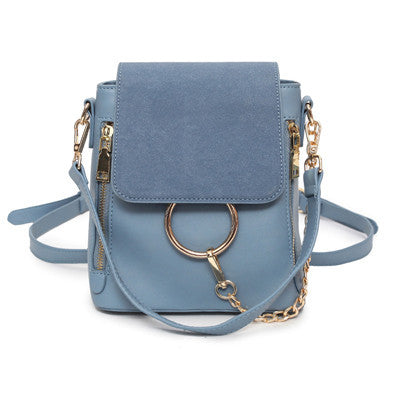 Women's Fashion PU Leather Zipper Chain Backpack 4 Colors
