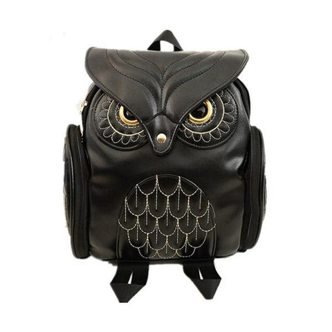 Cool 3D Owl PU Leather Fashion Backpack 5 Colors