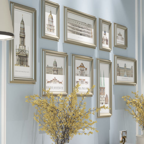 Nice 9-PC Decorative Framed Wall Art Decor 3 Designs
