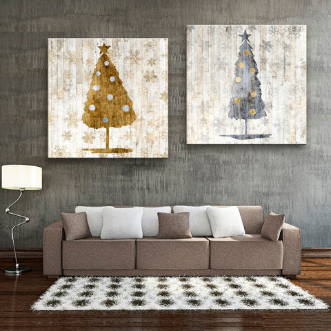 Elegant Holiday Christmas Tree Decorative Wall Art 2 Designs 8 Sizes