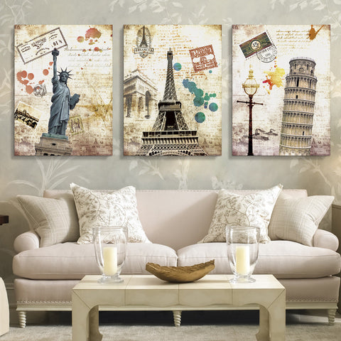 Decorative Scenery Frameless Wall Art 4 Designs 2 Sizes