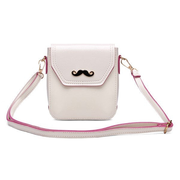 PU Leather Mustache Shoulder Crossbody Bags-Handbags-Loluxe