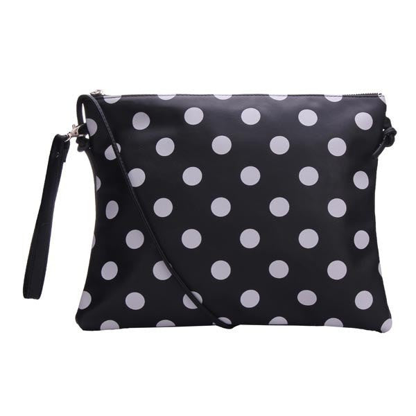 PU Leather Polka Dots Pattern Clutches Bag-Handbags-Loluxe