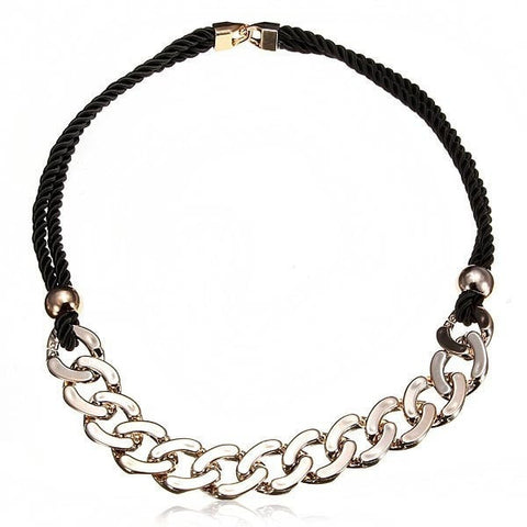 Punk Gold Plated Long Chain Chunky Statement Necklace Jewelry-Loluxe