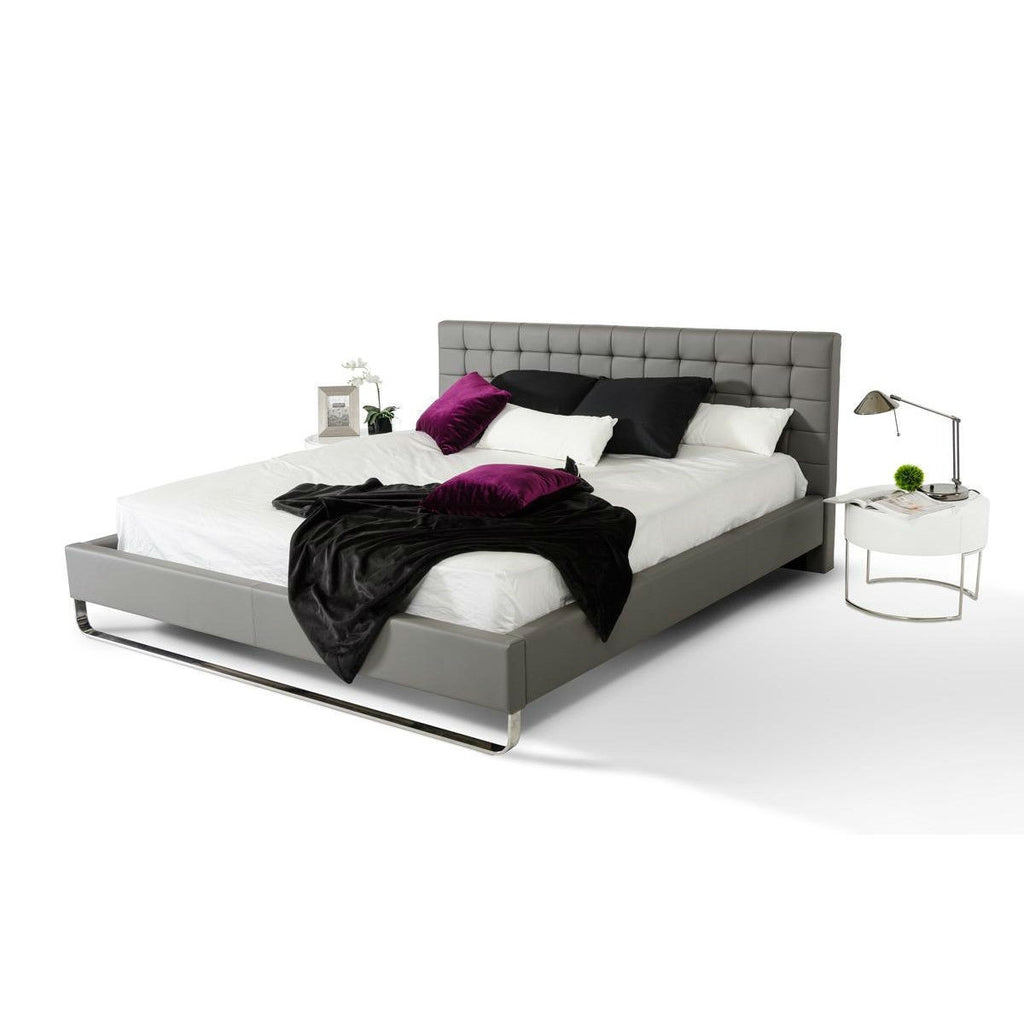queen size modern faux leather upholstered platform bed frame with headboard bedroom bed frames - Upholstered Platform Bed Frame