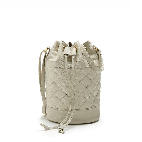 Quilted Women Bucket Bags Drawstring Crossbody Bags Casual Shoulder Bags-Handbags-Loluxe