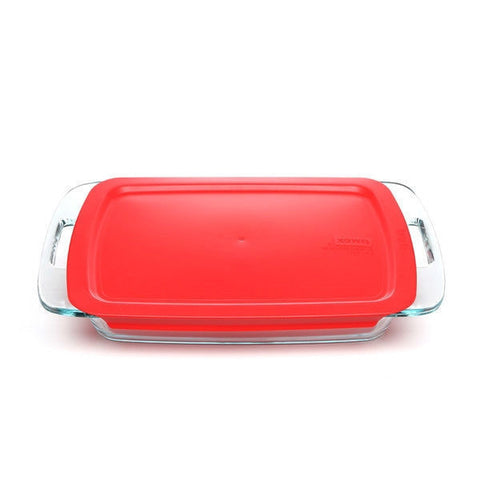 Rectangular Glass Roasting Dish Roaster - Microwave Dishwasher and Oven Safe-Kitchen > Cookware Sets-Loluxe