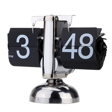 Retro-Style Flip-Over Small Scale Table Clock-Loluxe